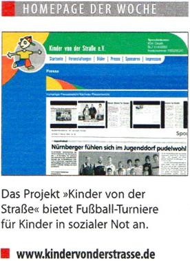 Homepage der Woche in Sport Bild  Europas groesste Sportzeitung - Bild 1 - Datum: 08.06.2008 - Tags: Auszeichnung, Besonderes, AKTION FUSSBALLTAG e.V.