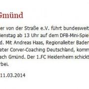 Gmünder Tagespost vom 11.03.2014