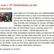 Gmünder Tagespost vom 21.03.2014