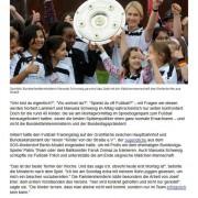 Einer der vielen Zeitungsberichte: Fußballtag in Berlin vor dem Reichstag am 05.05.2014