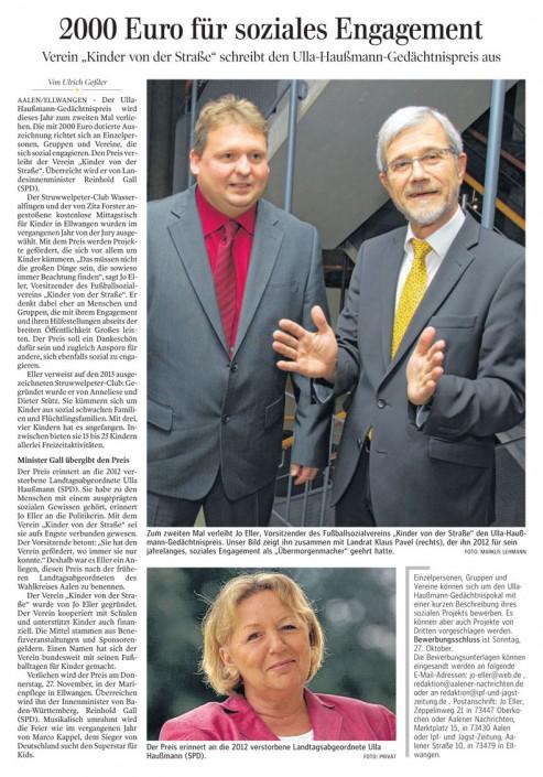 Presseberichte - Bild 13 - Datum: 27.03.2015 - Tags: AKTION FUSSBALLTAG e.V.