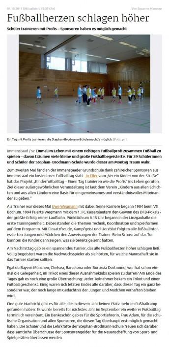 Presseberichte - Bild 5 - Datum: 27.03.2015 - Tags: AKTION FUSSBALLTAG e.V.