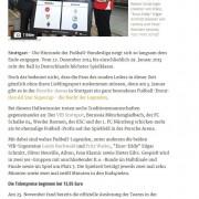 Stuttgarter Zeitung vom 27.11.2014