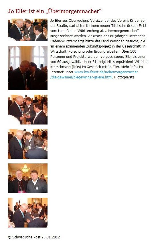 Schwaepo vom 23012012 - Bild 1 - Datum: 27.01.2012 - Tags: Auszeichnung, Pressebericht, AKTION FUSSBALLTAG e.V.