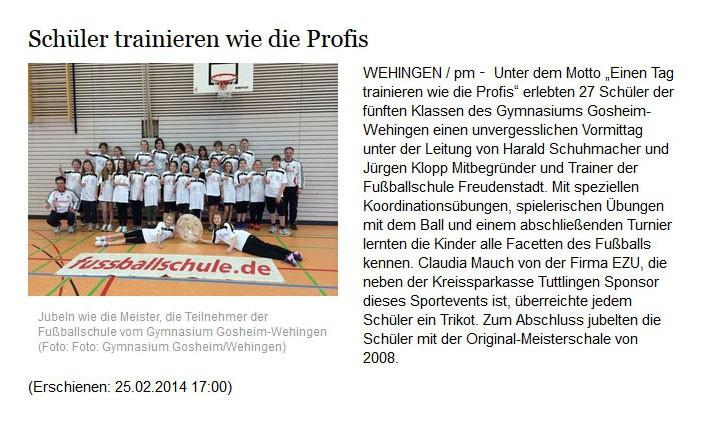 schwaebischede vom 25022014 - Bild 1 - Datum: 12.03.2014 - Tags: Pressebericht, AKTION FUSSBALLTAG e.V.