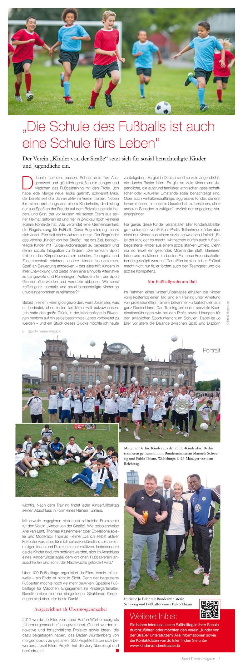 SportThieme Magazin vom Februar 2015 - Bild 1 - Datum: 13.02.2015 - Tags: Besonderes, Pressebericht, AKTION FUSSBALLTAG e.V.