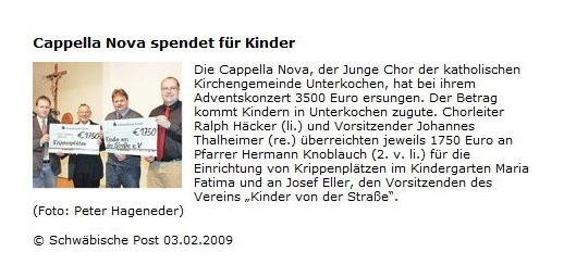 Schwaepo vom 03022009 - Bild 1 - Datum: 04.02.2009 - Tags: Pressebericht, AKTION FUSSBALLTAG e.V.