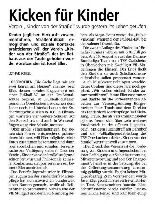 Presseberichte - Bild 2 - Datum: 27.03.2015 - Tags: AKTION FUSSBALLTAG e.V.