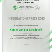 Integrationspreis 2013 des Deutschen Fußball-Bundes und von Mercedes-Benz