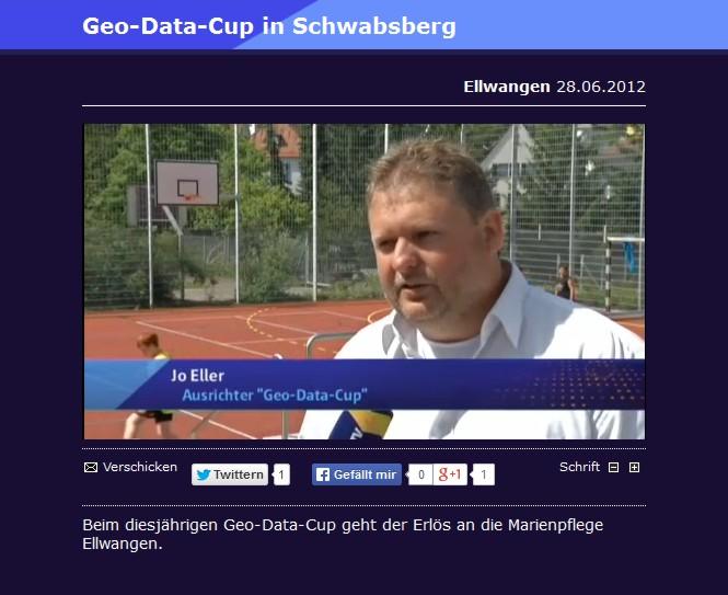 Bericht von regioTV ueber den GeoDataCup in Schwabsberg vom 28062012 - Bild 1 - Datum: 28.06.2012 - Tags: Besonderes, regioTV, Videobericht, AKTION FUSSBALLTAG e.V.