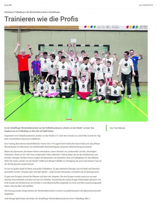Jo Ellers Arbeit als sportlicher Leiter bei Kinder von der Strasse eV - Bild 27 - Datum: 04.11.2015 - Tags: AKTION FUSSBALLTAG e.V.