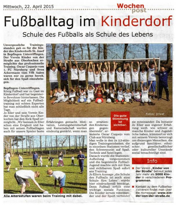 Jo Ellers Arbeit als sportlicher Leiter bei Kinder von der Strasse eV - Bild 28 - Datum: 04.11.2015 - Tags: AKTION FUSSBALLTAG e.V.