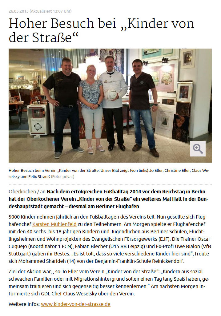 schwaebischede vom 26052015 - Bild 1 - Datum: 26.05.2015 - Tags: Fußballtag Flughafen Berlin Brandenburg, Pressebericht, AKTION FUSSBALLTAG e.V.