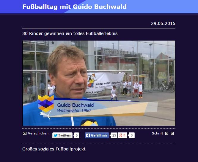 Bericht von regioTV Fussballtag mit Guido Buchwald Moebel Mahler NeuUlm - Bild 1 - Datum: 29.05.2015 - Tags: Besonderes, Möbel Mahler Neu-Ulm, regioTV, Videobericht, AKTION FUSSBALLTAG e.V.