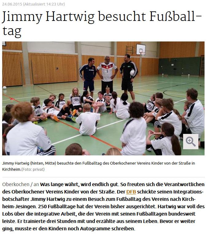 schwaebischede  vom 24062015 - Bild 1 - Datum: 24.06.2015 - Tags: Jimmy Hartwig, Pressebericht, AKTION FUSSBALLTAG e.V.