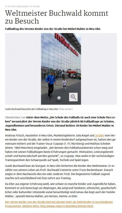 Jo Ellers Arbeit als sportlicher Leiter bei Kinder von der Strasse eV - Bild 12 - Datum: 04.11.2015 - Tags: AKTION FUSSBALLTAG e.V.