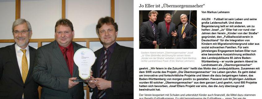 Jo Ellers Arbeit als sportlicher Leiter bei Kinder von der Strasse eV - Bild 2 - Datum: 04.11.2015 - Tags: AKTION FUSSBALLTAG e.V.