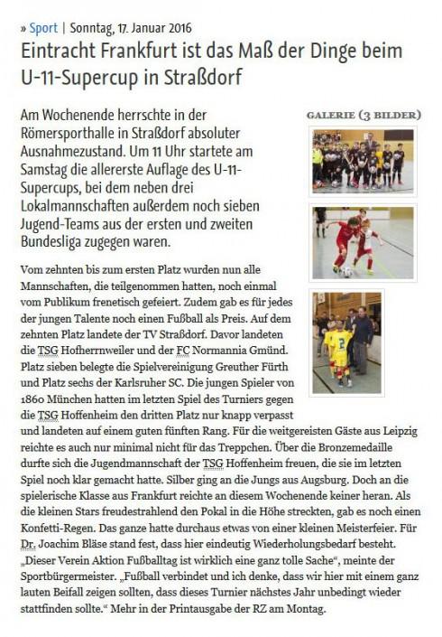 Stadtwerke Gmuend Bundesliga Jugendcup in Schwaebisch Gmuend am 14 und 15012017 - Bild 41 - Datum: 03.01.2017 - Tags: Fußballtag, Schwäbisch Gmünd, Stadtwerke Gmünd Bundesliga Jugendcup, U11 Super Cup, AKTION FUSSBALLTAG e.V.
