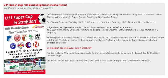 Stadtwerke Gmuend Bundesliga Jugendcup in Schwaebisch Gmuend am 14 und 15012017 - Bild 44 - Datum: 03.01.2017 - Tags: Fußballtag, Schwäbisch Gmünd, Stadtwerke Gmünd Bundesliga Jugendcup, U11 Super Cup, AKTION FUSSBALLTAG e.V.