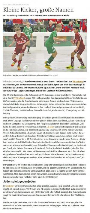 Stadtwerke Gmuend Bundesliga Jugendcup in Schwaebisch Gmuend am 14 und 15012017 - Bild 42 - Datum: 03.01.2017 - Tags: Fußballtag, Schwäbisch Gmünd, Stadtwerke Gmünd Bundesliga Jugendcup, U11 Super Cup, AKTION FUSSBALLTAG e.V.