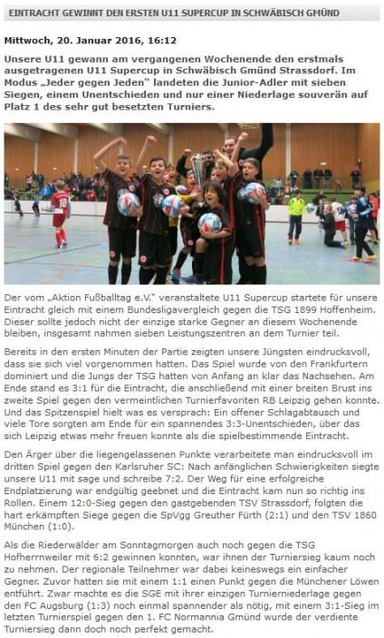 Stadtwerke Gmuend Bundesliga Jugendcup in Schwaebisch Gmuend am 14 und 15012017 - Bild 36 - Datum: 03.01.2017 - Tags: Fußballtag, Schwäbisch Gmünd, Stadtwerke Gmünd Bundesliga Jugendcup, U11 Super Cup, AKTION FUSSBALLTAG e.V.