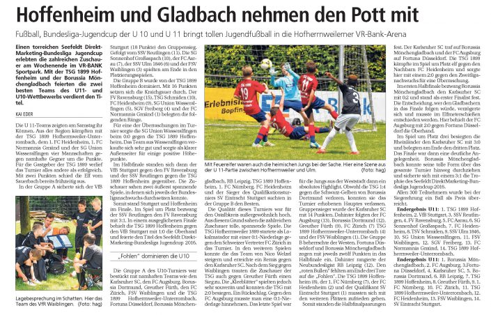Seefeldt DirektMarketing Bundesliga Jugendcup am 25 und 26062016 in Aalen - Bild 5 - Datum: 25.06.2016 - Tags: Fußballtag, Seefeldt DirektMarketing, AKTION FUSSBALLTAG e.V.