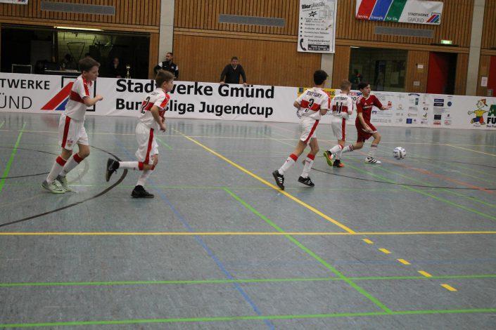 Stadtwerke Gmuend Bundesliga Jugendcup in Schwaebisch Gmuend am 14 und 15012017 - Bild 24 - Datum: 03.01.2017 - Tags: Fußballtag, Schwäbisch Gmünd, Stadtwerke Gmünd Bundesliga Jugendcup, U11 Super Cup, AKTION FUSSBALLTAG e.V.
