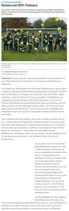 Presseberichte - Bild 20 - Datum: 18.01.2017 - Tags: AKTION FUSSBALLTAG e.V.