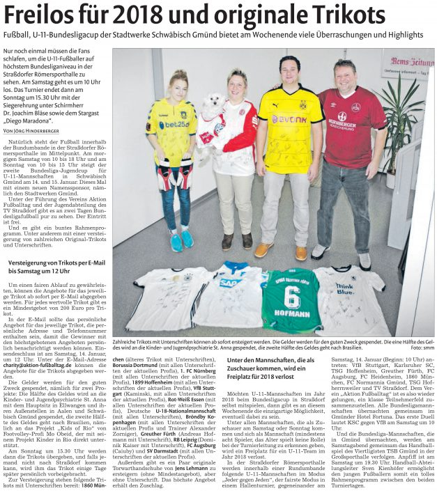 Stadtwerke Gmuend Bundesliga Jugendcup in Schwaebisch Gmuend am 14 und 15012017 - Bild 7 - Datum: 03.01.2017 - Tags: Fußballtag, Schwäbisch Gmünd, Stadtwerke Gmünd Bundesliga Jugendcup, U11 Super Cup, AKTION FUSSBALLTAG e.V.