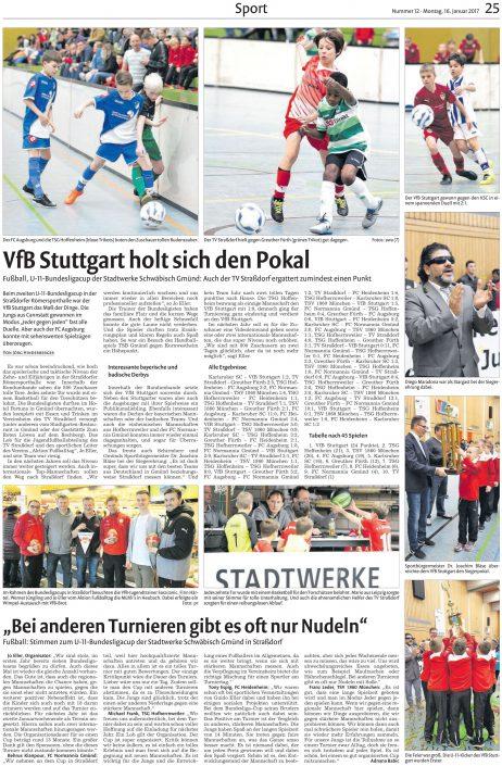 Presseberichte - Bild 10 - Datum: 18.01.2017 - Tags: AKTION FUSSBALLTAG e.V.