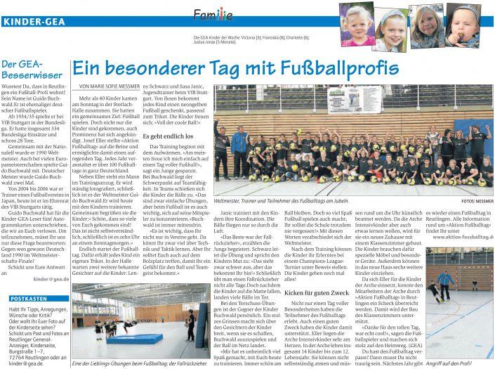 Startseite aktion fussballtag e v for Reutlinger general anzeiger immobilien