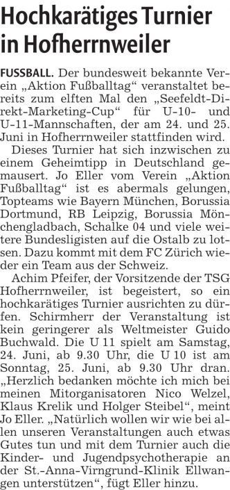 Seefeldt DirektMarketing Bundesliga Jugendcup am 3006 und 01072018 in NeresheimDorfmerkingen bei Aalen - Bild 4 - Datum: 29.06.2018 - Tags: Fußballtag, Seefeldt DirektMarketing, AKTION FUSSBALLTAG e.V.