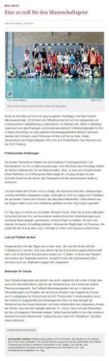 Presseberichte - Bild 3 - Datum: 18.01.2017 - Tags: AKTION FUSSBALLTAG e.V.