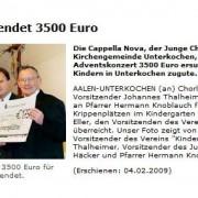 Aalener Nachrichten vom 04.02.2009