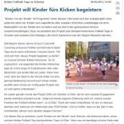 Bericht von Kicker über die bundesweiten Fußballtage