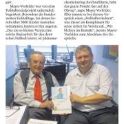 Jo Eller trifft DFB-Ehrenpräsident Mayer-Vorfelder
