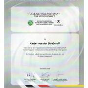 Urkunde: Integrationspreis 2008 vom 23.12.2008