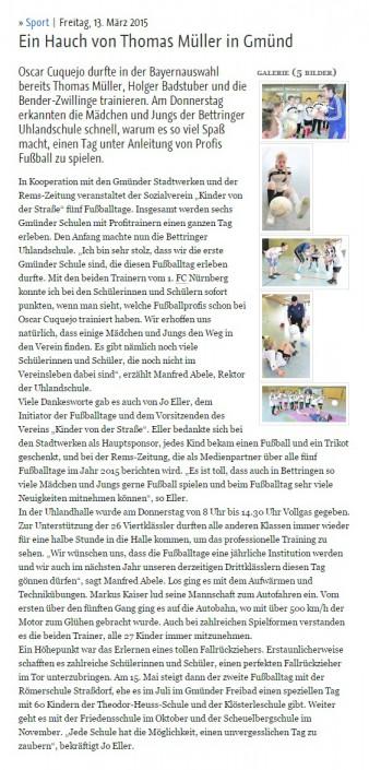 Jo Ellers Arbeit als sportlicher Leiter bei Kinder von der Strasse eV - Bild 34 - Datum: 04.11.2015 - Tags: AKTION FUSSBALLTAG e.V.